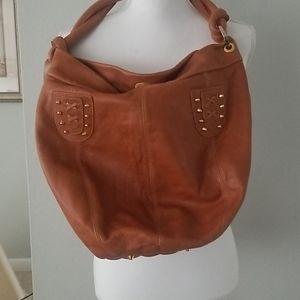Luna J Barneys NY Hobo Bucket Shoulder Leather Bag